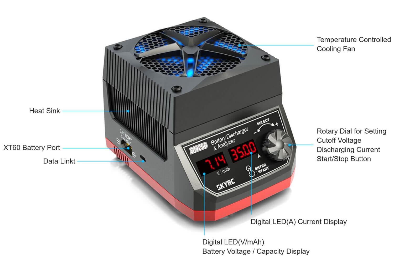 SkyRC BD250 Battery Discharger Analyzer