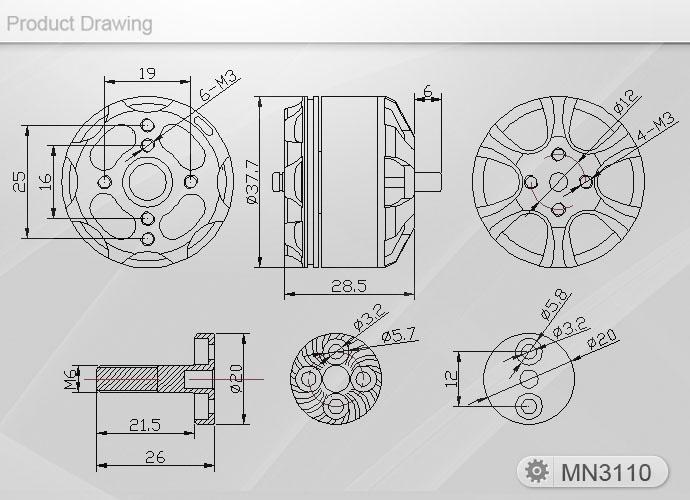 MN3110-26 T-Motor