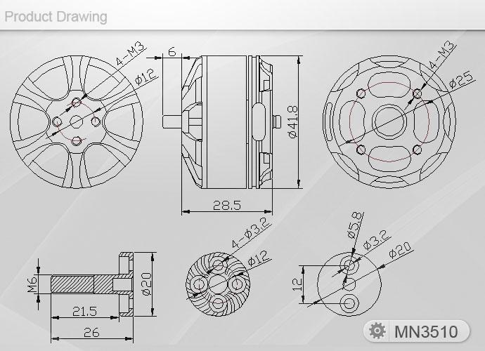 MN3510-13 T-Motor